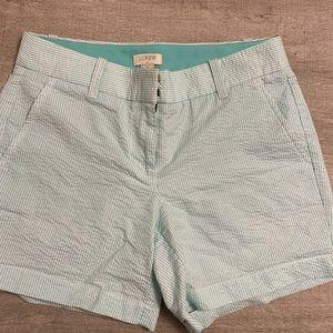 NWOT J. Crew Seersucker Shorts 0